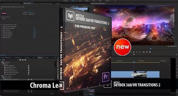 【Pr插件】Premiere插件 360°VR全景三维转场特效
