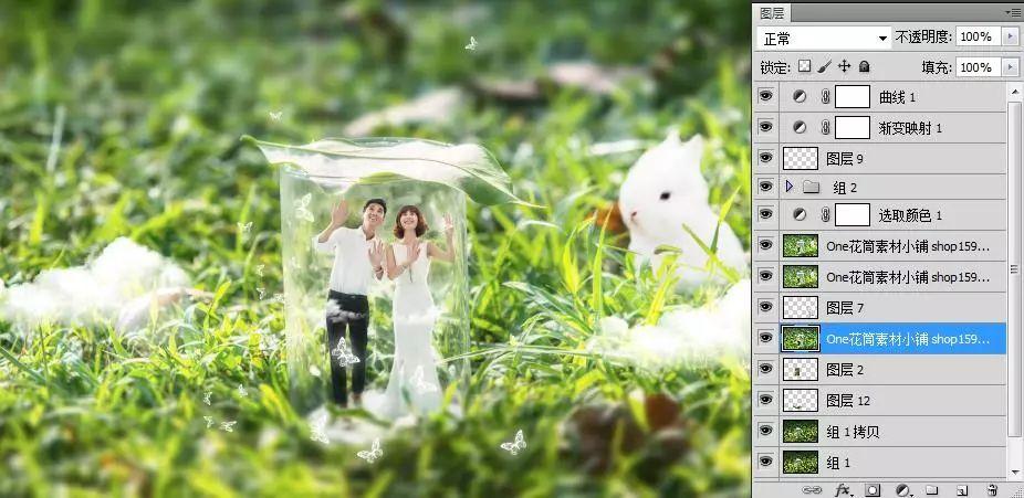 最新微观摄影婚纱PS创意设计合成PSD背景模版素材