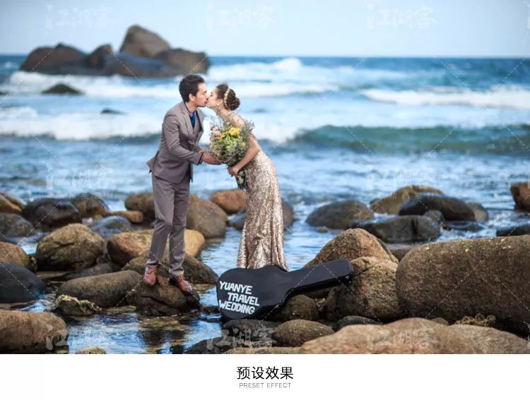【ps插件】蓝天海景时尚风lightroom预设人像后期婚纱写真婚礼滤镜修图 效果预览