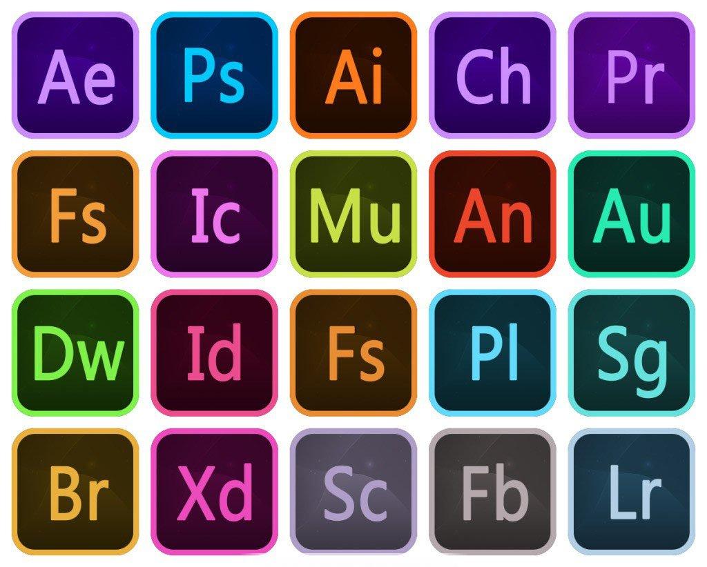 Adobe 成员全系列图标