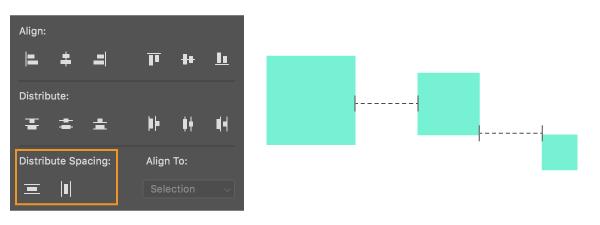 分布间距如 Adobe Illustrator 一样