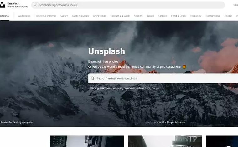 无版权图片网站Unsplash