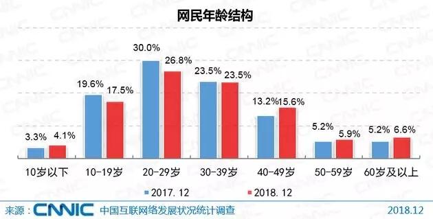 中国网民年龄结构