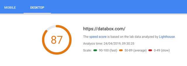 使用免费的PageSpeed Insights工具查看当前页面加载时间
